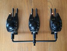 FOX Micron Sx Bite Alarms x3, With Hardcases and Jrc Snag Ears