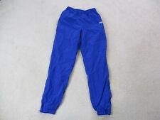 VINTAGE Asics Windbreaker Pants Adult Medium Blue White Runner Running Mens 90s
