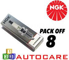 NGK V-POWER gamma Candela Set - 8 Pack-Part Number: fr5-1 No. 7252 8pk