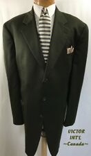 """VICTOR INT'L Canada Men's 2 Pc Suit 3 Button Size 50XL W 43"""" I 32.5""""  Green"""
