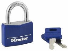 """Master Lock 142DCM Blue 1-9/16"""" Wide Covered Solid Body Padlock"""
