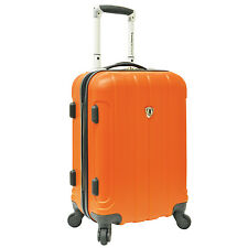 "Travelers Choice Cambridge Orange 20"" Carry-on Spinner Suitcase Travel Luggage"