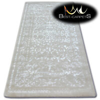 """VERY SOFT WOOL & ACRYLIC RUGS white """"MANYAS"""" Thick & Densely Woven HIGH QUALITY"""