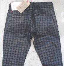 Current Elliott Ankle Skinny Jean Black Foil Houndstooth  Sz 0 / 24  NEW $218
