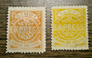 British Oceania: Samoa - # 5 & 6 - issued in 1878 & 1880  -  2 stamps