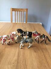 Four Schleich Horse Medieval 2003 13 cm