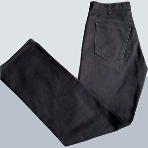 Mens Levi's Sta-Prest Vintage Denim Jeans W33 L 34 Black zip fly