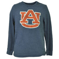 NCAA Auburn Tigers Mens Adult Thermal Pullover Shirt Long Sleeve Blue Sports