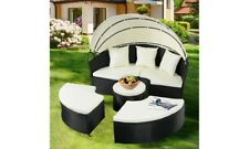 2-in-1 Outdoor Patio Rattan Round Retractable Canopy - Replacement Canopy Only