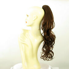 Hairpiece ponytail long wavy dark brown copper  25.59 ref 6/31 peruk
