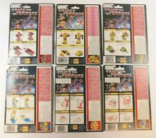 TRANSFORMERS G1 MINIBOT CARD BACK LOT PIPES, BUBLEBEE, WHEELIE, ETC, 1984-86