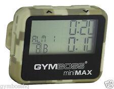 Gymboss Minimax Intervalltimer Stoppuhr Camouflage / Hellbraun SOFTBESCHICHTUNG