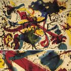 """36W""""x27H"""" UNTITLED by JACKSON POLLOCK - EARLY COLORFUL DRIP SPLATTER CANVAS"""