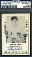 Tony Kubek 1979 Diamond Greats Signed Psa/dna Autograph Authentic