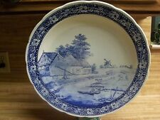 VINTAGE DELFTWARE BLUE BOCH ROYAL SPHINX WALL PLATE/ CHARGER/PLATTER CIRCA 1970