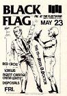 "3.25"" Vintage 1980's BLACK FLAG Punk Rock vinyl bumper STICKER. Agent Orange"