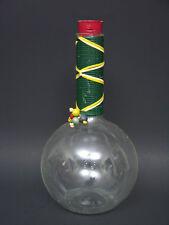 "Vintage 1950s Pyrex Beaker Carafe Decanter Straw Grip Red Cork 11 7/8"""