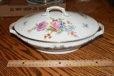 Epiag Czechoslovakia K.C Bridal Rose Floral Fine China Oval Covered Tureen 5522
