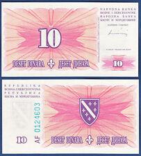 BOSNIEN H. / BOSNIA H. 10 Dinara 1994  UNC  P. 41