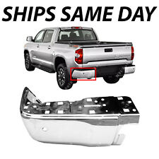 NEW Chrome Steel Drivers LH Rear Bumper End for 2014-2017 Toyota Tundra W/ Park