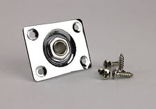 Output Jack & Curved Rectangle Jack Plate For Guitar & Bass