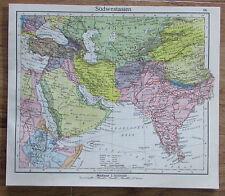 Südwestasien Asia - alte Karte Landkarte aus 1922 old map