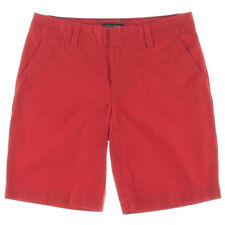 NEW Women Tommy Hilfiger Formula One Red Twill Bermuda Walking Chino Short AU 22