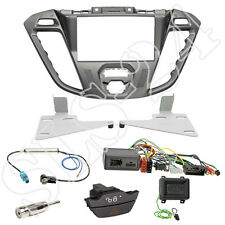 Ford Transit Tourneo Custom Doppel-DIN Blende silber+Alpine Lenkradinterface Set
