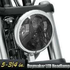 """5.75"""" LED Projector Black Headlight For Harley Dyna Sportster XL 1200 883 48"""
