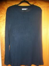 ASOS BLACK LONG SLEEVE HIGH NECK TUNIC JUMPER SIZE 22 VISCOSE