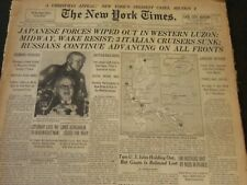 1941 DECEMBER 14 NEW YORK TIMES - JAPANESE FORCES WIPED OUT IN LUZON - NT 6162