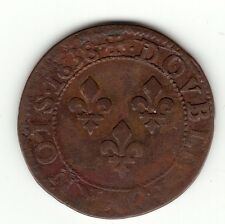 Louis XIII, 1638 copper double tournois, Troyes- Chappes mint