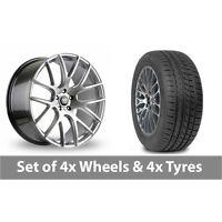 "4 x 19"" AVA Phoenix Hyper Silver Alloy Wheel Rims and Tyres -  265/30/19"