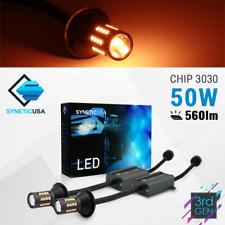 3157 4114 Error-Free 40-LEDs Amber Yellow Front Turn Signal Blinker Light Bulbs