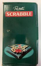 Scrabble Magnetic Pocket Travel Game Mattel w/ 100 Letter Tiles 2006 Complete