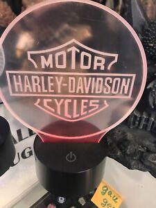 Harley Davidson logo 3d lamp 7 colors nice gifts