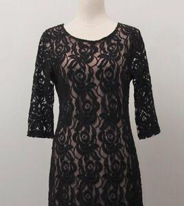 Grace Hill Black Lace Dress - Size 12