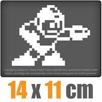 Megaman 14 x 11 cm JDM Decal Sticker Auto Car Weiß Scheibenaufkleber