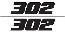 MG 2343 302 Ford & Boss Small Block Engine Decal Sticker Metro Auto Graphics