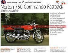 NORTON 750 Commando Fastback 1969 Fiche Moto 000223