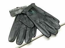 Men's Real Leather Driving Gloves Black Unlined