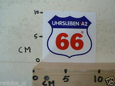 STICKER,DECAL ROUTE 66 UHRSLEBEN A2