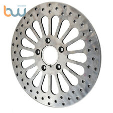 Super Spoke Polished Front 11.5 Disc Rotor For Harley Dyna Sportster Softail FLH