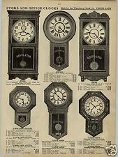 1913 PAPER AD Store Office Waterbury Regulator Clock Clocks Calendar