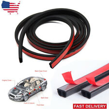 "Car Motor Door Waterproof Big B-shape Rubber Seal Weather Strip Hollow 157"" 4M"