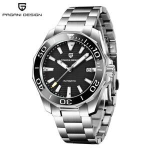PAGANI DESIGN PD-1668 Men's NH35A Automatic Mechancial Watch Steel Band Date Box