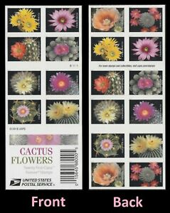 US 5350-5359 5359b BK323 Cactus Flowers forever booklet 20 MNH 2019