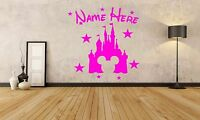 Disney Princess Castle Personalised Wall Art Stickers Cinderella Decals Sticker