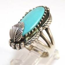 Vintage Carol Feeley Sterling Silver Blue Turquoise Ring Size 9