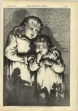 1878 Christmas Sketch Two Young Girls At Five O'clock In The Morning